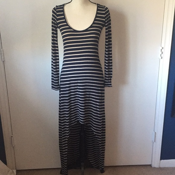5b429369f16e BCBGMaxAzria Dresses | Arianna Highlow Striped Dress | Poshmark